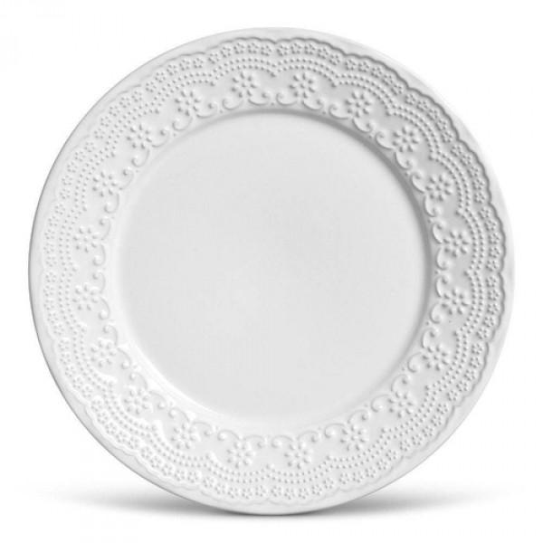 conjunto 6 pratos rasos madeleine branco porto brasil