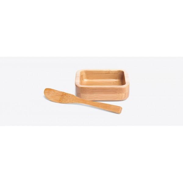 cumbuca em bambu com espátula