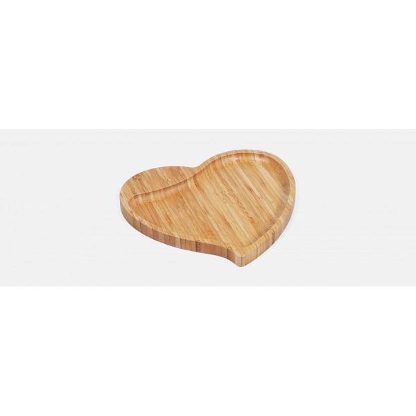 petisqueira em bambu com formato de coração