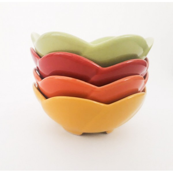 conjunto 4 bowl mini flower