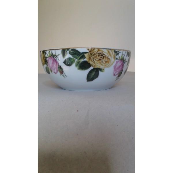 bowl flower filete dourado