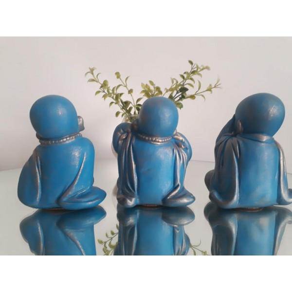 trio de budinhas azul