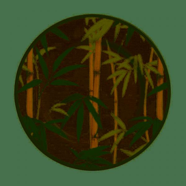 prato de sobremesa bambu