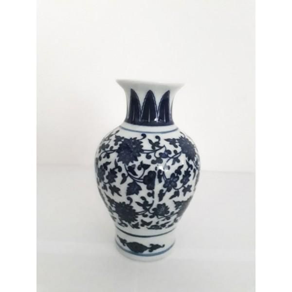 vaso decor floral de porcelana