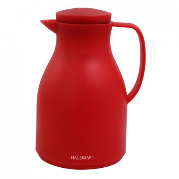 garrafa térmica basic vermelho 1 litro hauskraft