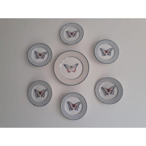 kit prato de parede borboleta