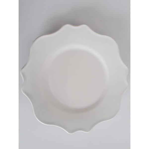 conjunto 6 pratos de sobremesa branco