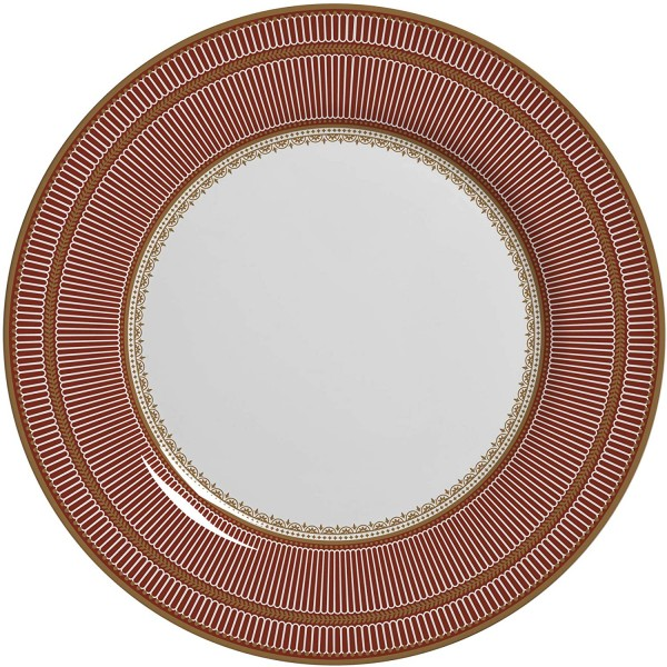 conjunto 6 pratos de sobremesa plissan vermelho