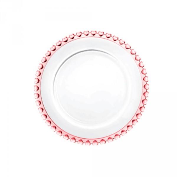 prato sobremesa coração rosa