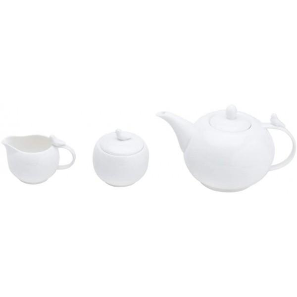 conjunto café birds porcelana 3 peças branco