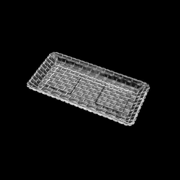 travessa retangular em cristal tress lyor