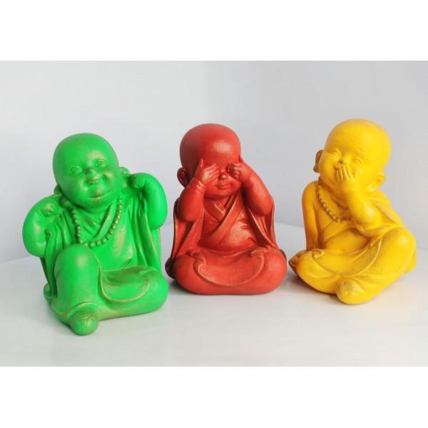 buda trio de budinhas coloridos