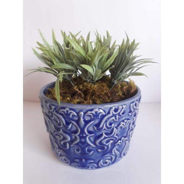 cachepot arabesco com planta permanente
