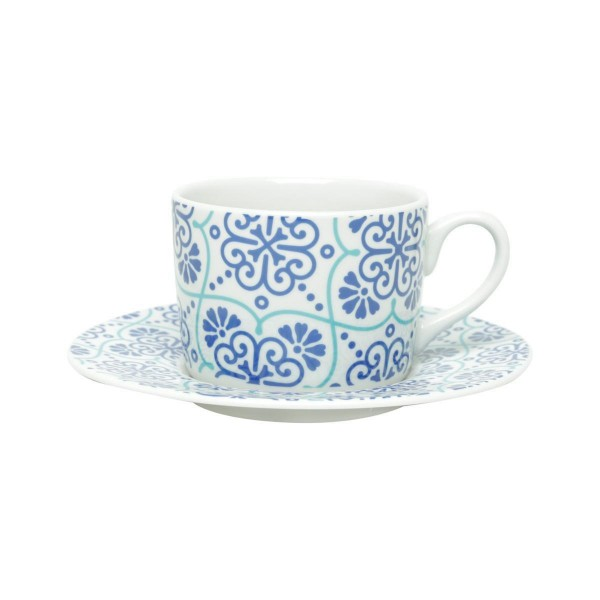 jogo 6 xícaras chá lisboa