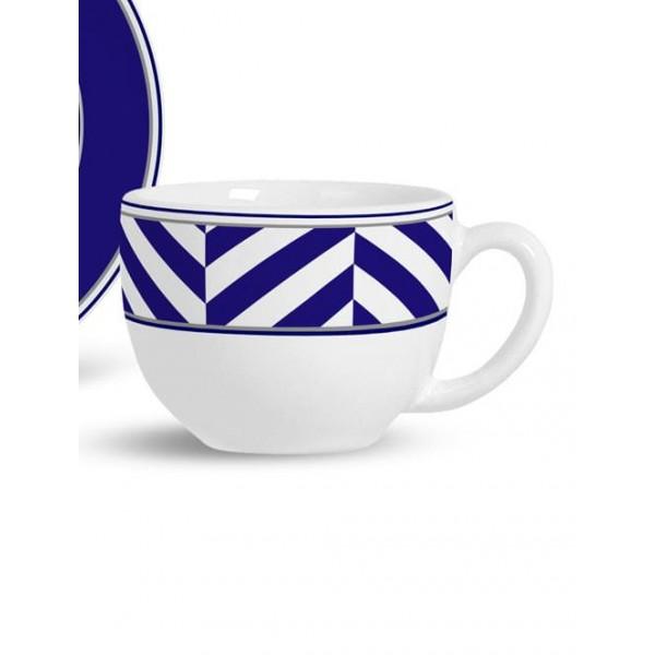 jogo 6 xícaras chá flat pires roma