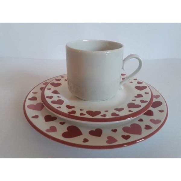 jogo 2 xícaras chá love