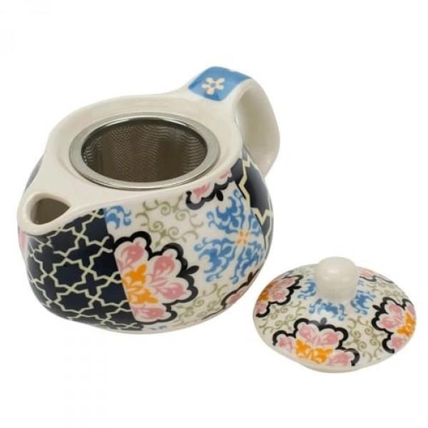bule de porcelana com infusor 9cm
