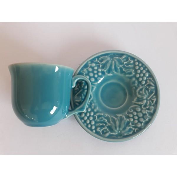 jogo 4 xícaras café  premium azul poppy