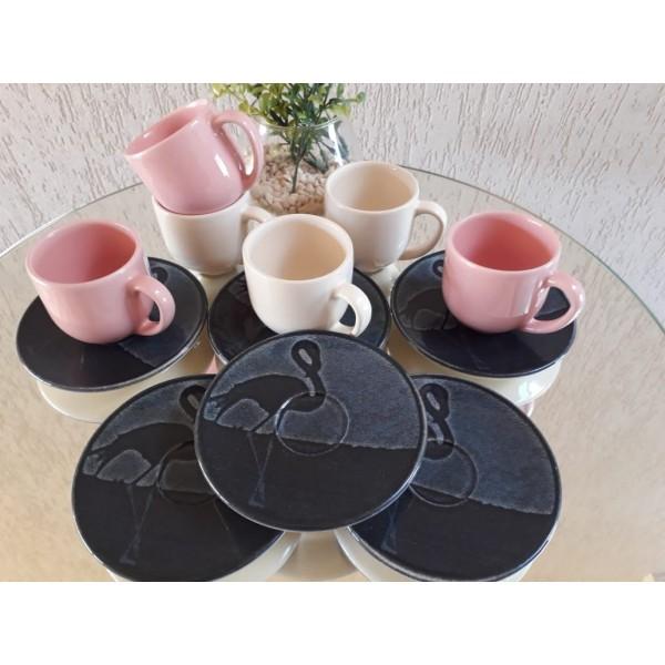 jogo 6 xícaras café coup camargue