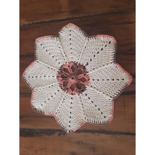 sousplat  crochê flower