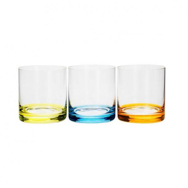 conjunto 6 copos baixos cristal ecológico