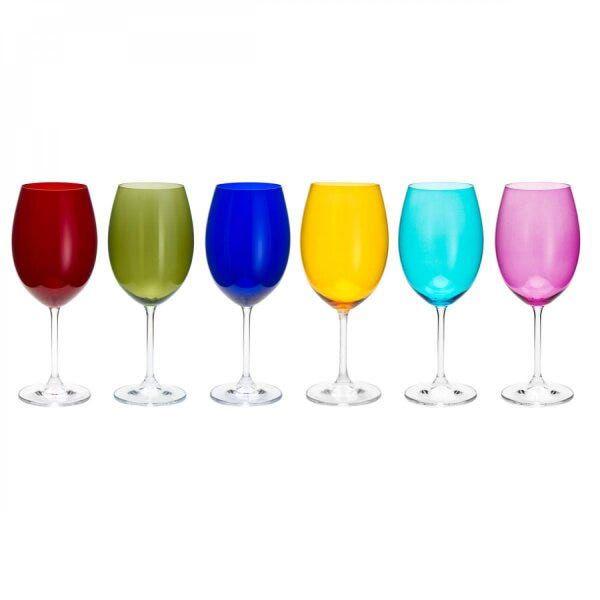 conjunto 6 taças para agua em cristal