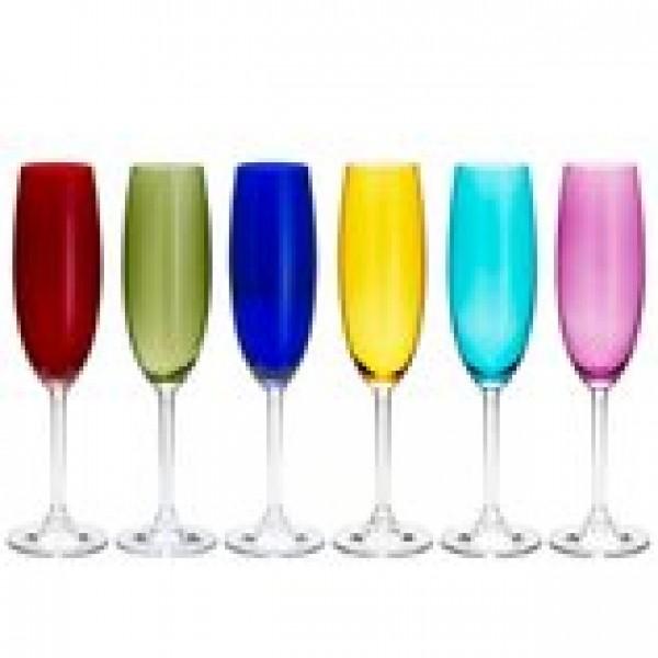 conjunto 6 taças champagne cristal