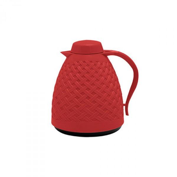 garrafa térmica rattan 750 ml vermelho paramount