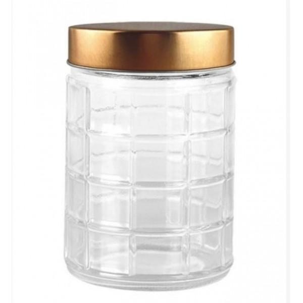 conjunto 2 potes vidro rose gold