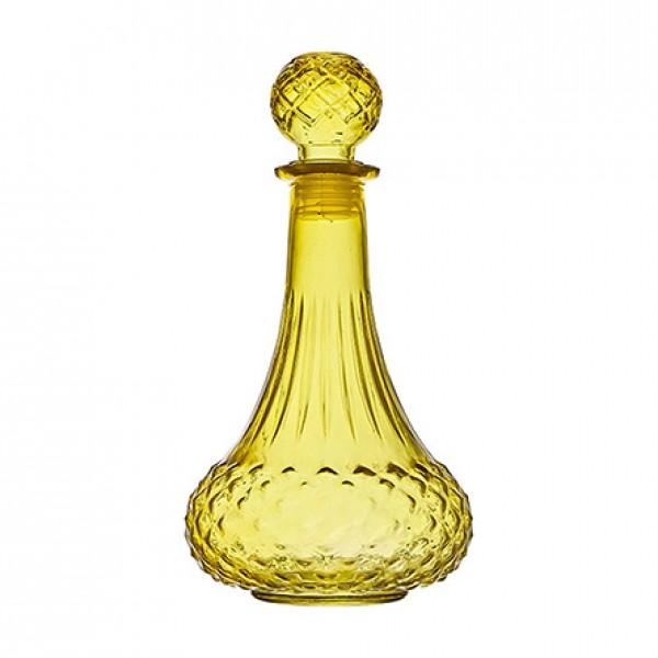 garrafa de licor vidro amarelo