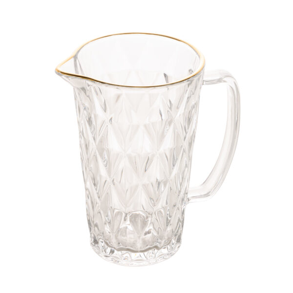 jarra de vidro com fio de ouro diamond