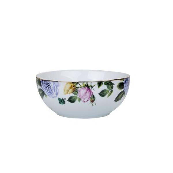 bowl lisianthus filete dourado