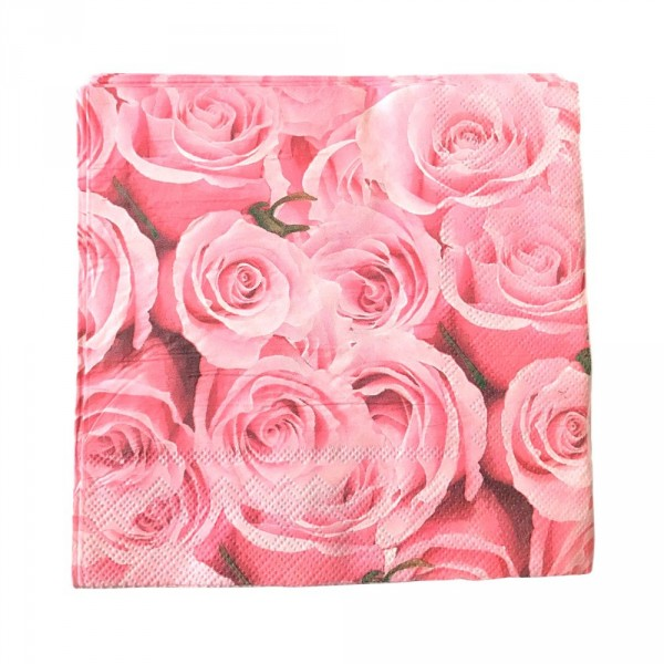 guardanapo de papel rosas