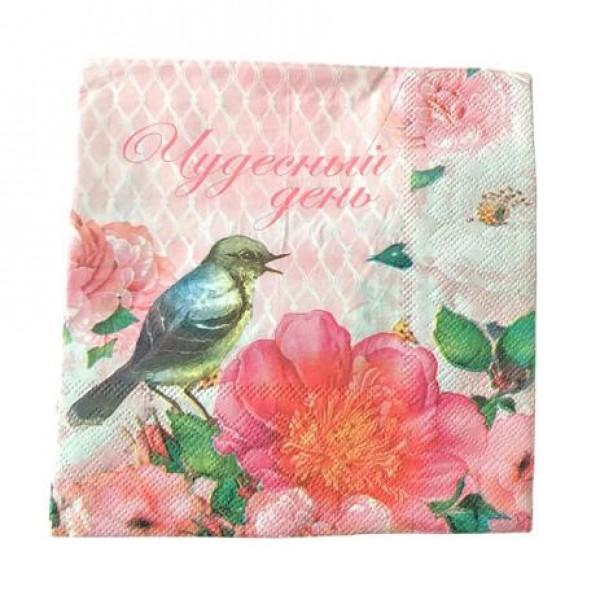 guardanapo de papel passarinho