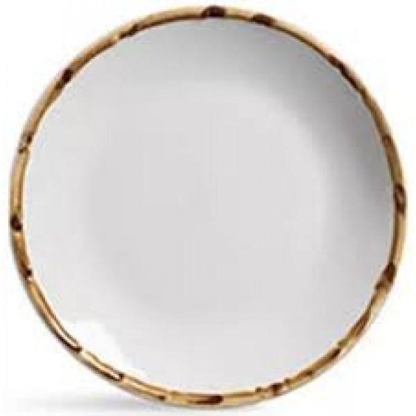 prato de sobremesa branco bambu