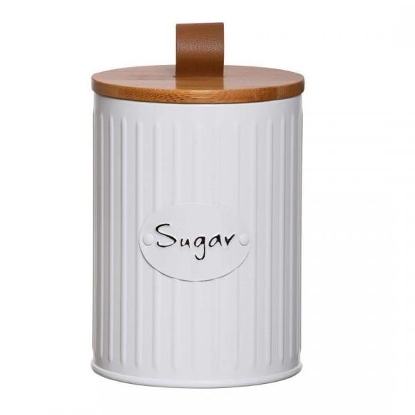 lata porta mantimentos lisse tampa bambu sugar